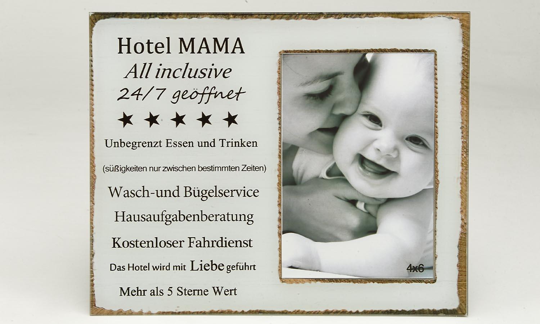 "Deko Holzrahmen ""Hotel Mama""  10 x 15 cm"