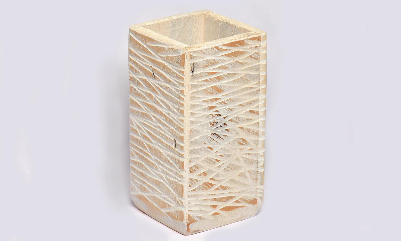 Holz Behälter (Vierkant)