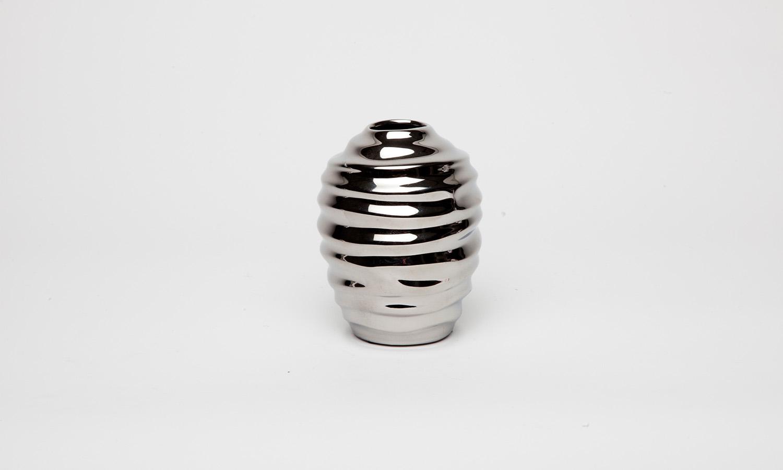 Fink MOJO/Vase silber H.10cm Höhe ca. 10 cm