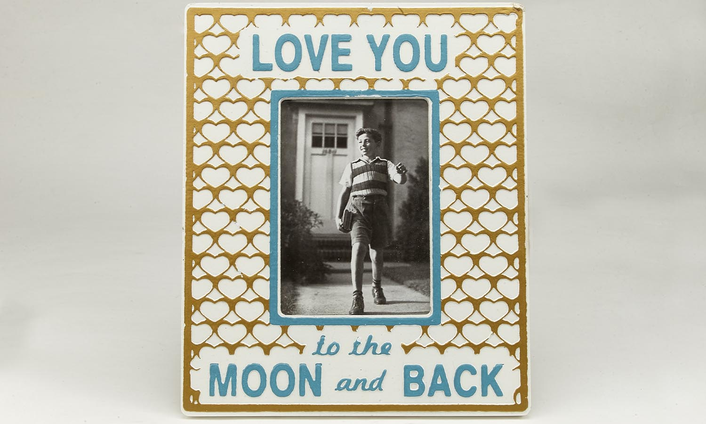 "Deko Holzrahmen ""Love you to the moon...""  13 x 18 cm"