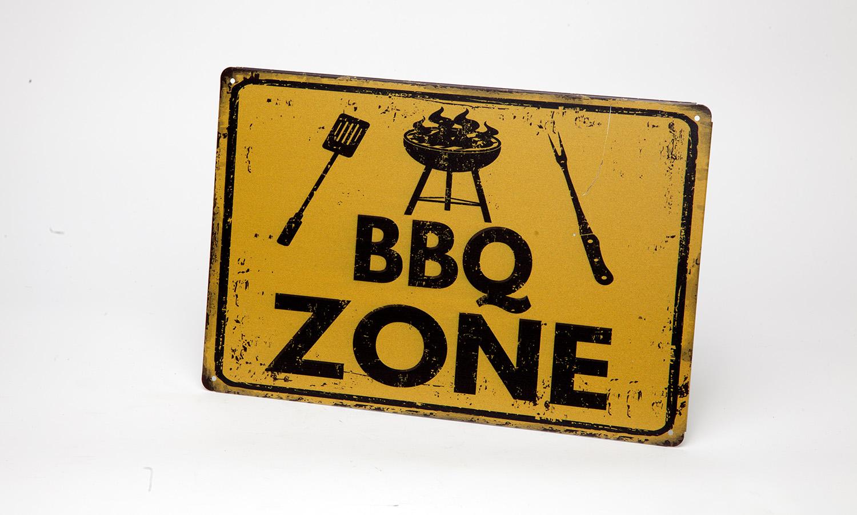 """Blechschild """"BBQ Zone"""""""