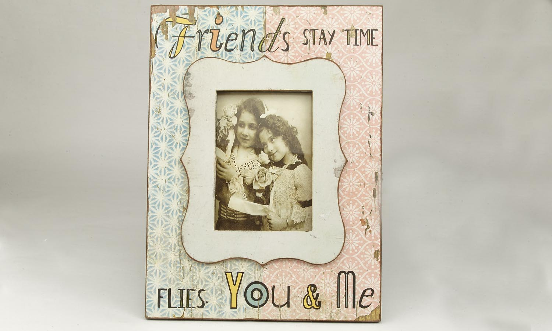 "Deko Holzrahmen ""Friends""  13 x 18 cm"
