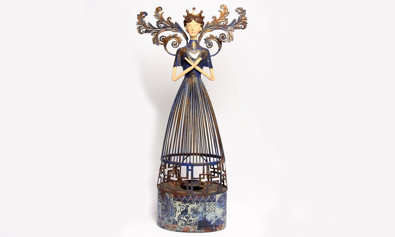 Dekofigur - Engel mit  Teelichthalter