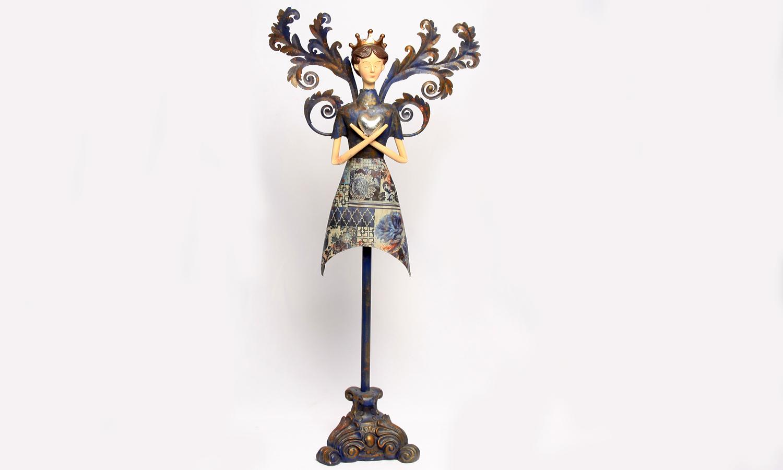 Dekofigur - Engel mit Standbein