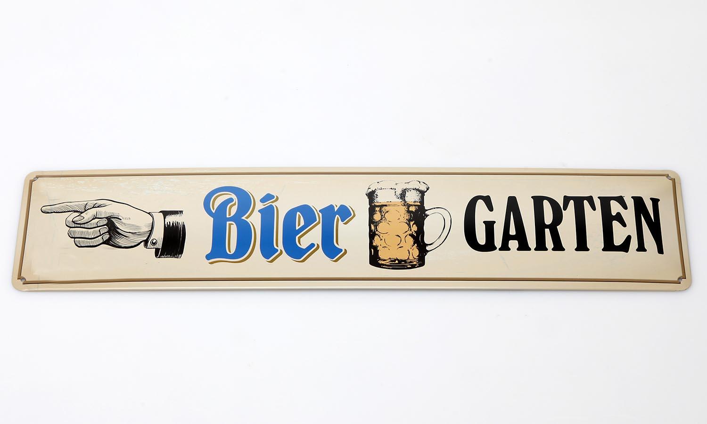 Deko Blechschild / Bier Garten