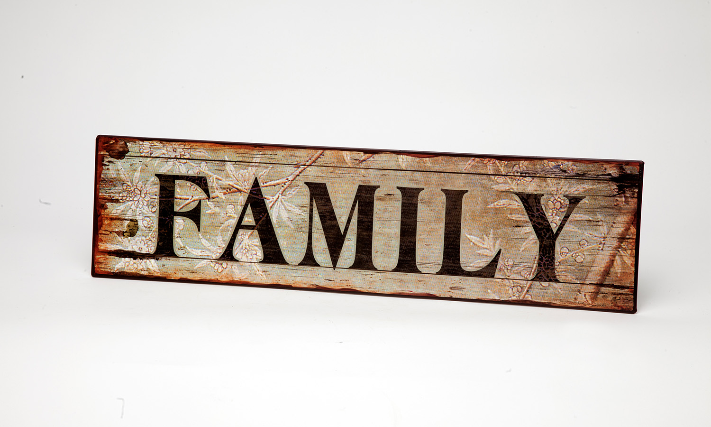 "Blechschild "" FAMILY"" La Finesse"