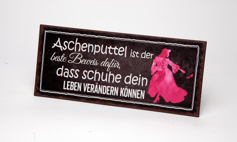 """Blechschild """" Aschenputtel..."""""""