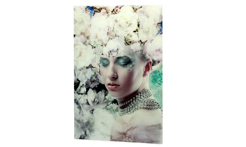 "Glasbild  80 x 120 ""Flower Art"""