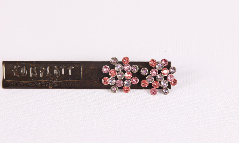 Konplott Magic Fireball Ohrstecker/Halskette lila pink Classic Size