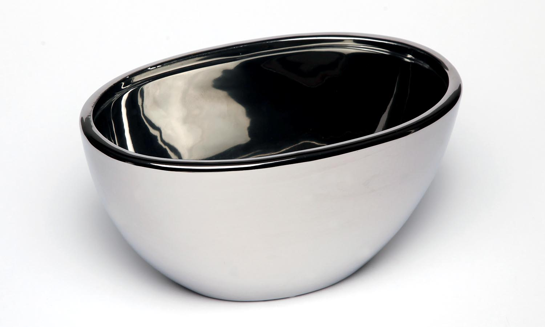 """Exner Schale Oval  """"Argen T""""  in Silber H 12,5 cm"""