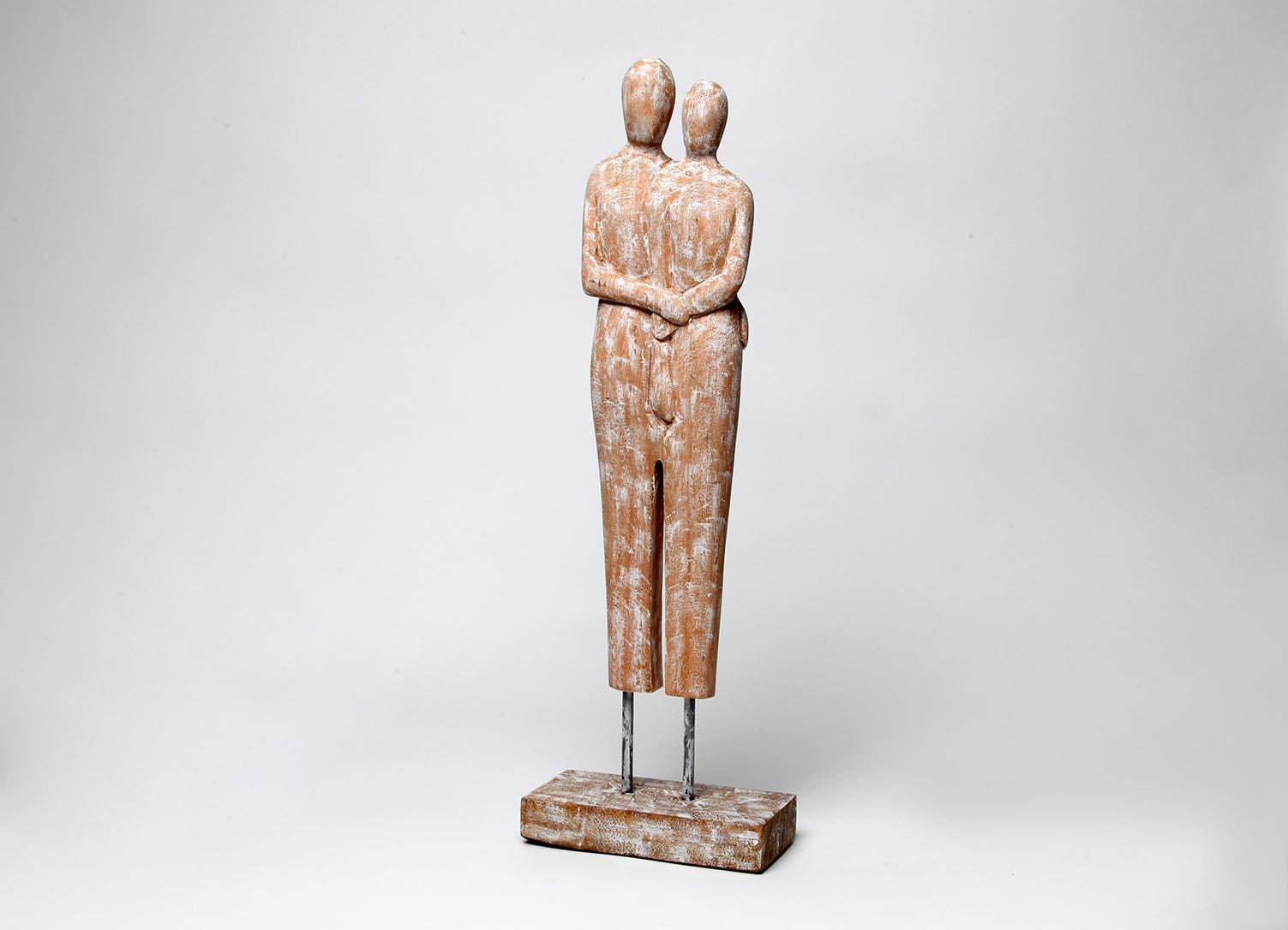 Exner Skulptur  Paar Artisanal, Holz, 18x9x56 cm