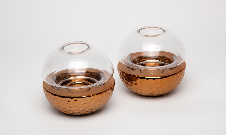 Fink Teelichthalter gold