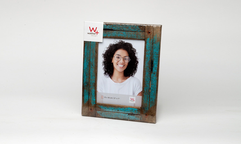 Walther Rahmen Holz blau Usedlook 13 x 18
