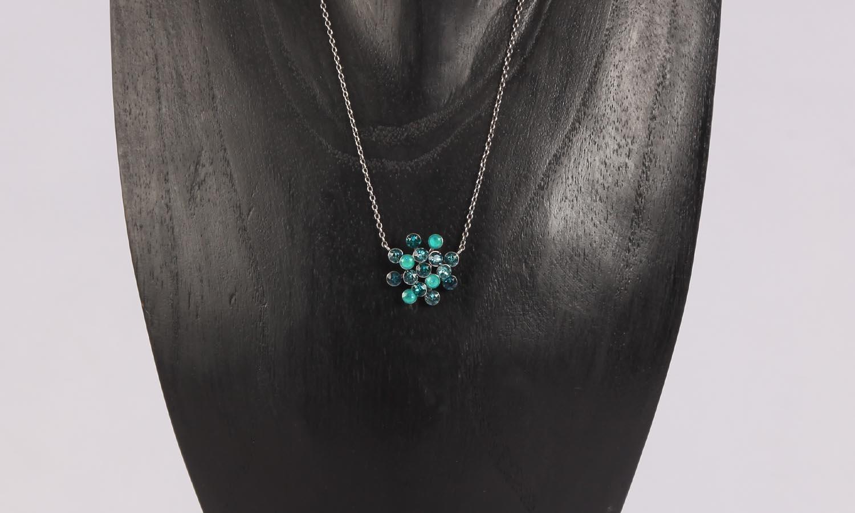 Konplott Magic Fireball Ohrstecker/Halskette blue green Classic Size