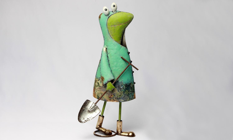 Deko Frosch Figur mit Schüppe