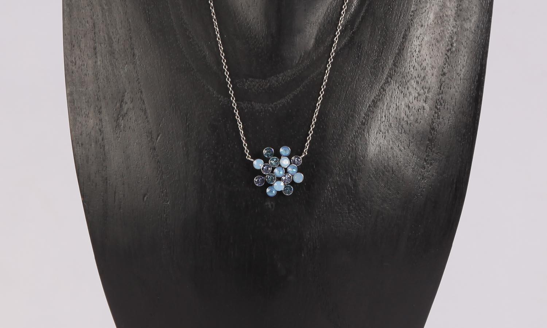 Konplott Magic Fireball Ohrstecker/Halskette  blue Classic Size