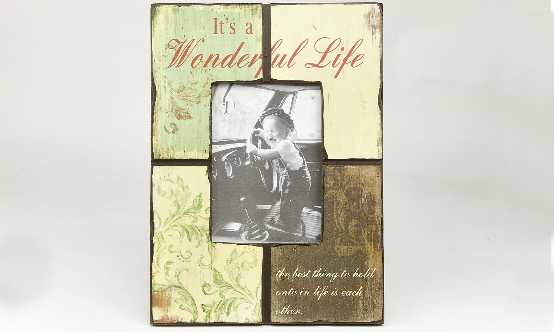 "Deko Holzrahmen ""Wonderful life""  13 x 18 cm"