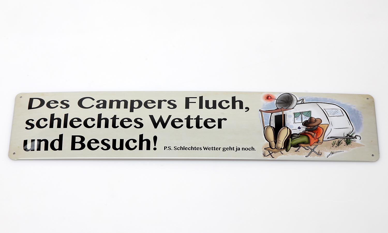 Deko Blechschild / Camper