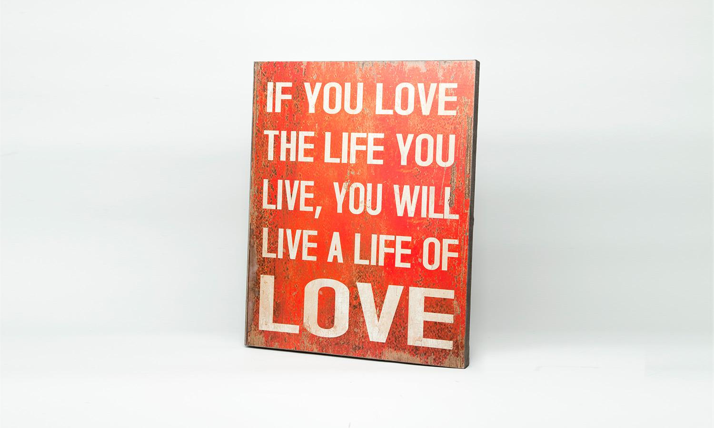 """Holzleinwand """"If you Love...""""La Finesse"""