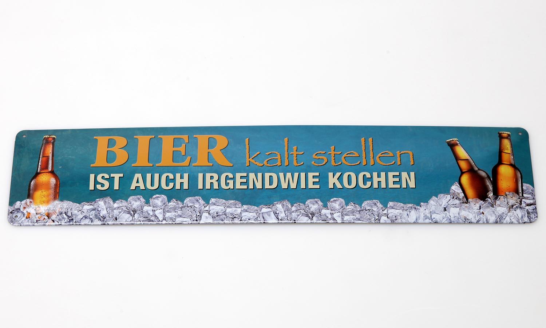 Deko Blechschild / Bier kalt stellen ist auch irgendwie Kochen