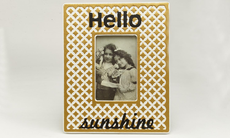 "Deko Holzrahmen ""Sunshine""  10 x 15 cm"