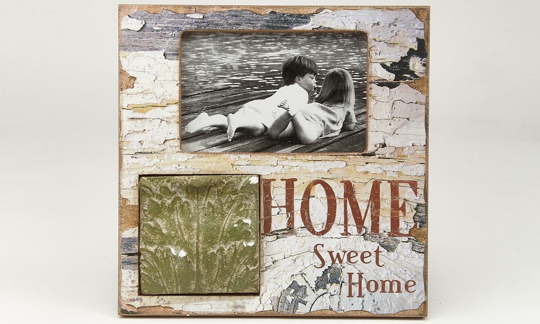 "Deko Holzrahmen ,,Home Sweet Home"" 10 x 15 cm"